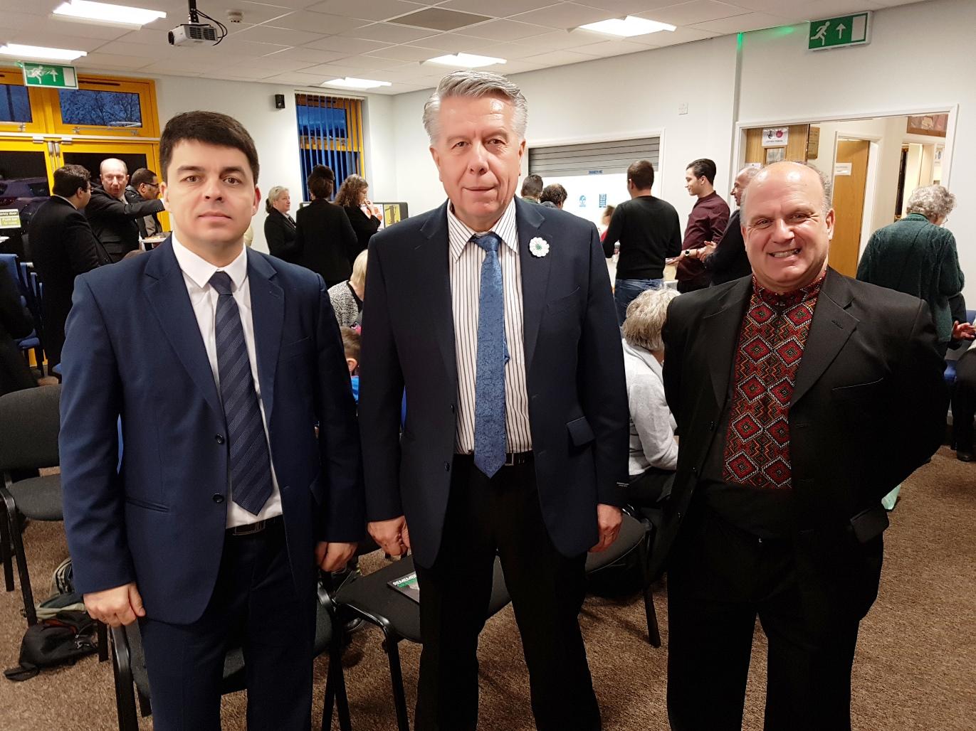 Predstavnik Ambasade Ukraine, Ferid Kevrić  and Joe Kupranec