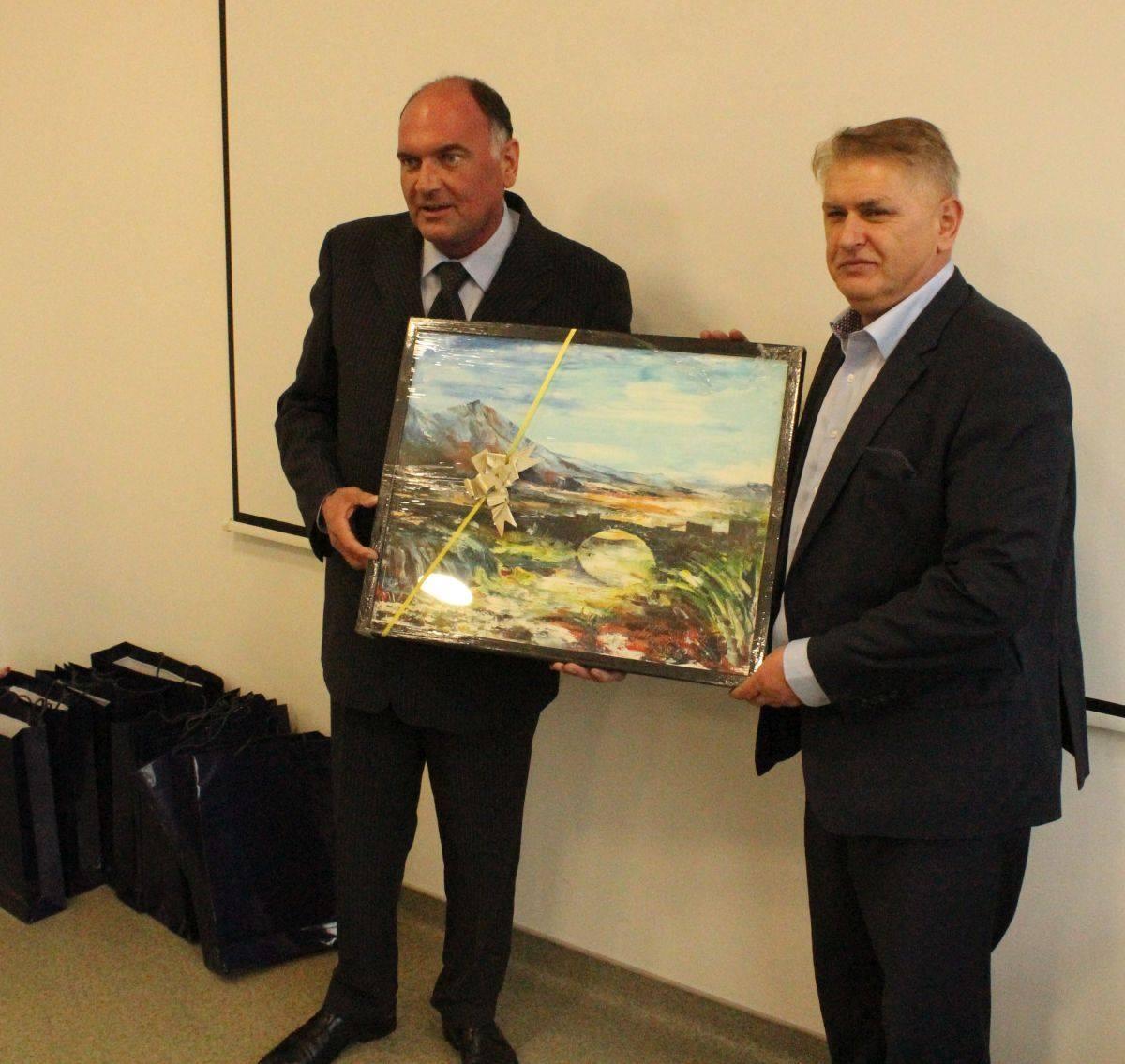 Načelnik Samir Kamenjaković i Haris Halilovic