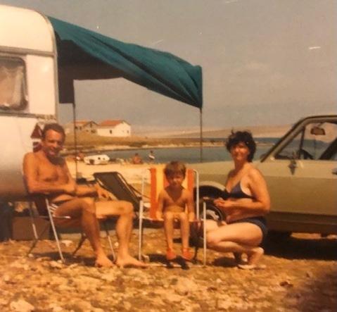 Prvo kampovanje na Viru, proljeće 1987.